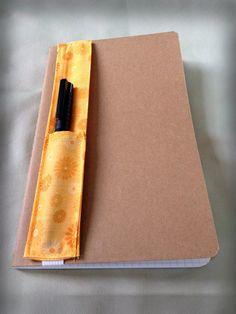 Journal pen holders by KatZefi on Etsy