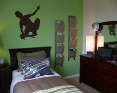 Teen Boy Bedroom Design, Pictures, Remodel, Decor and Ideas - page 6, cool paper holders, Ballard?