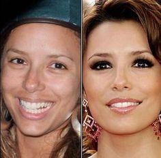 With and without make-up EVA LONGORIA