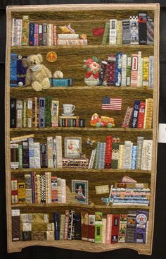 """BBK (Bookcase Before Kindles)"" Quilter -- Margaret Kessler   Auburn, IN"