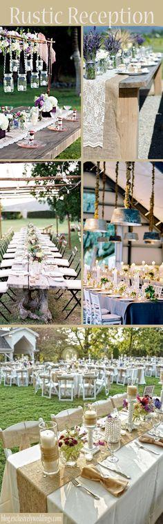 Rustic Wedding Reception