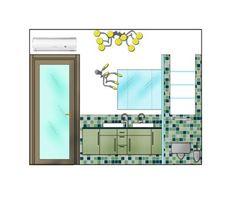 Ristrutturazione e arredo attico - Prospetto bagno padronale - Maria Teresa Azzola Designer - Trescore Balneario (BG) 2003-2004