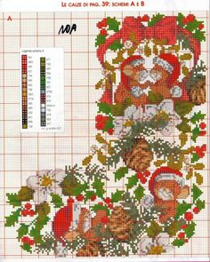 3 pinned from www. Cross Stitch Christmas Stockings, Cross Stitch Stocking, Xmas Cross Stitch, Cross Stitch Needles, Xmas Stockings, Christmas Cross, Cross Stitch Charts, Cross Stitch Designs, Cross Stitching