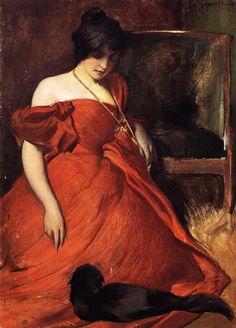 Black and Red - John White Alexander (1856-1915) - c. 1896