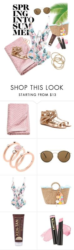 """""""~summer swim~"""" by tiff7700 ❤ liked on Polyvore featuring Aquazzura, Michael Kors, Ray-Ban, JADEtribe, Xen-Tan and ABS by Allen Schwartz"""