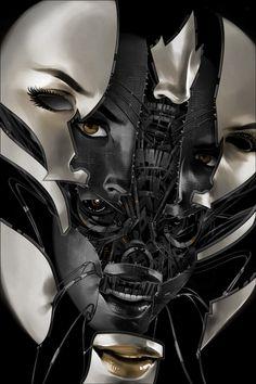 """Billy Nuñez's """"Future Face 9 - 3D"""""""