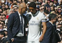 There was an early setback for Real boss Zinedine Zidane after his captain Raphael Varane went off injured after 11 minutes