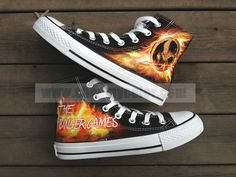 The Hunger Games Mockingjay Hand Painted Shoes Canvas Fashion Sneaker For Men Women