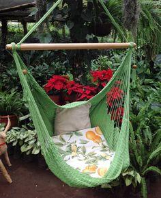 Green Hammock Chair Handwoven by MariaHammocks on Etsy, $40.00