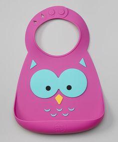Love this Owl Silicone Bib on #zulily! #zulilyfinds