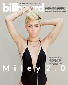 Star Spotting: Meet Miley Cyrus 2.0 On The Cover Of Billboard (Don't Worry -- She's Still In A Swimsuit) (PHOTO)