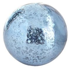 "Mercury Glass Sphere Ocean Blue - This is perfect for a Frozen room. It reminds me of when young Elsa is playing with Anna and makes a snowball. ""Do the magic, do the magic!"""