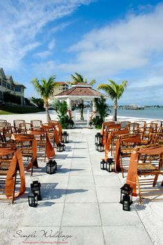 Beach Wedding Ceremony With Bamboo Chairs At Isla Del Sol S Private And Gazebo In St
