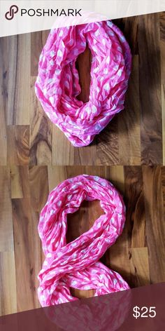 Pink polka dotted infinity scarf Really cute Accessories Scarves & Wraps