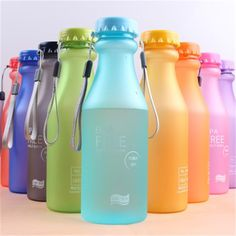 Cheap bpa free, Buy Quality bottle sport directly from China water bottle sport Suppliers: Candy Colord Portable Leak-proof Water Bottle Sport Unbreakable Plastic Lemon Juice Bottle Drinkware BPA Free Bpa Free Water Bottles, Reusable Water Bottles, Plastic Bottles, Travel Water Bottle, Travel Bottles, Camping Water, Travel Supplies, Drink Containers, Storage Containers