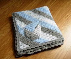 crochet de ganchillo bebé manta bebé niño bebé por GoddessArtemis