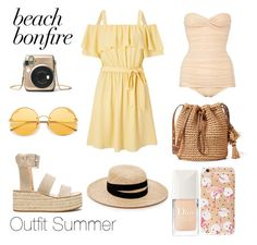 """Outfit Summer"" by sophiebenson16 on Polyvore featuring Miss Selfridge, rag & bone, Janessa Leone and Christian Dior"