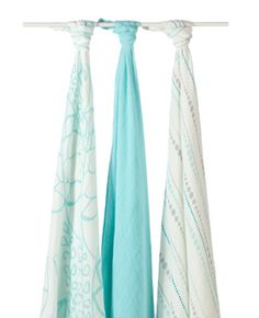 These bamboo swaddles are AMAZING.  So soft!!  Wish we had more than one.  And yup, got the turquoise instead of the pink.  It's a much better deal to get the 3 pack...