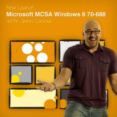 "Introducing a new video training course from CBT Nuggets, ""Microsoft MCSA Windows 8 70-688.""  Trainer James Conrad guides you through this 28-video course that covers the latest version of Windows. Topics that he'll discuss and break down include Windows to Go, IPv6 and Wireless, designing a recovery solution, and more."