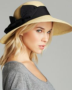 AQUA Large Floppy Hat with Ribbon | Bloomingdale's ($88)