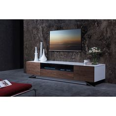 Modernize your entertainment experience with this Modrest Gillian TV stand.