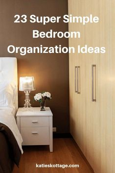 23 organization ideas for your bedroom closet, bedroom dresser, small bedroom, or large master bedroom. Small Bedroom Organization, Home Organization Hacks, Organizing Your Home, Bedroom Storage, Closet Organization, Bedroom Decor, Bedroom Ideas, Top Of Dresser Organization, Organising Ideas
