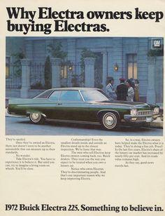 1972 Buick Electra 225 Classic Car Advertisement by AdVintageCom