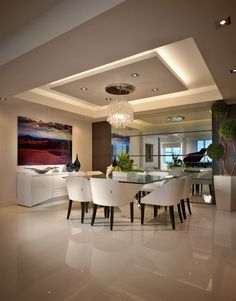 very dazzling dinning room to open living room floor plan love the color scheme - Home Ceilings Designs