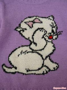 Джемперок с кошечкой.