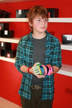 Young Leon McCarthy showed off his latest prosthetic hand at the opening of MakerBot's second 3D printer retail store.