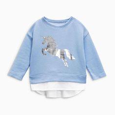 Little Girls Sweatshirt Toddler Unicorn Crewneck Tee Shirts Cute Long Sleeve T-Shirts Clothes Size - Blue - - Girls' Clothing, Fashion Hoodies & Sweatshirts # Girl Sweat, Sweater Shop, Girls Sweaters, Shirt Outfit, Size Clothing, Kids Outfits, Tee Shirts, Sweatshirts, Clothes