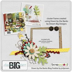 Scrapbooking TammyTags -- TT - Designer - Dream Big Designs,  TT - Item - Frame, TT - Style - Cluster