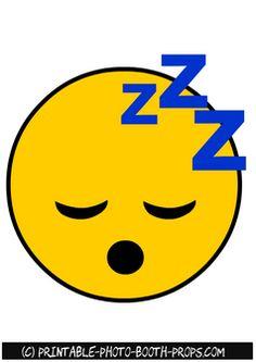 Sleeping Emoji Photo Booth Prop