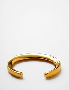 Maiyet signature gold plated skinny bangle