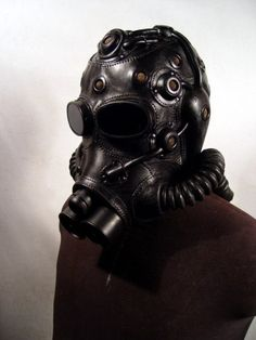 Recycled Gas Mask/Flight Helmet