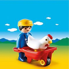 PLAYMOBIL Farmer with Wheelbarrow Set ** This is an Amazon Affiliate link. Check out this great product.