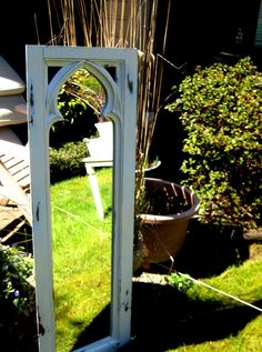 Vintage gothic style wood framed mirror by jensdreamvintage, 74.50