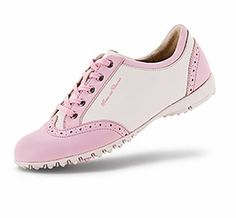 shop spikeless ladies Italian golf shoes for her including the Duca del Cosma Pink cashmere pink Mina spikeless golf shoe.... #golf #shoes