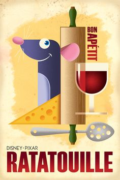 Flyer Goodness: Retro Disney/Pixar Posters by Eric Tan
