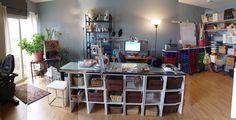 Studio of miniaturist Ericka Van Horn