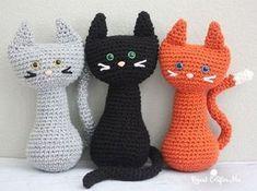 Free crochet pattern: Crochet Cat amigurumi by Repeat Crafter Me Crochet Cat Pattern, Cute Crochet, Crochet Crafts, Crochet Dolls, Crochet Yarn, Easy Crochet, Crochet Projects, Crochet Patterns, Diy Projects