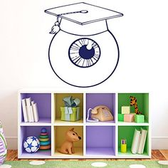Wall Vinyl Decal Sticker Eyeball with Graduation Cap Art Design Nursery Room Nice Picture Decor Hall Wall Ki478 Thumbs up decals http://www.amazon.com/dp/B00L5PX79K/ref=cm_sw_r_pi_dp_Npc2tb0N2V8F23N1