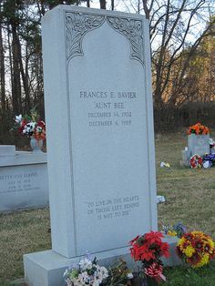 """Frances Bavier (Aunt Bea of """"The Andy Griffith Show"""") Cemetery Headstones, Old Cemeteries, Graveyards, Frances Bavier, Peace In The Valley, Famous Tombstones, Graven Images, The Andy Griffith Show, Famous Graves"""