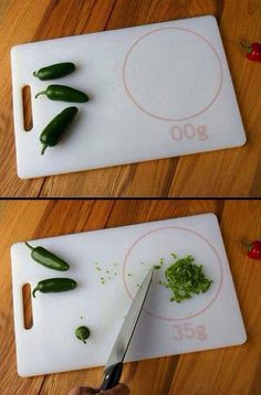 Cutting board that measures weight. Shut up and take my money!