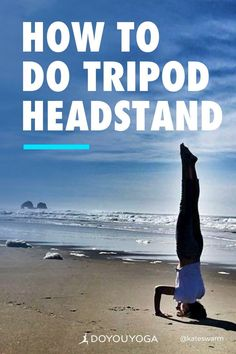How to Build Up to Tripod Headstand #yoga #fitness #headstand #balance Kid Poses, Yoga Poses, Free Yoga Videos, Head Stand, Yoga Tips, Yoga Benefits, Yoga Sequences, Yoga For Beginners, Yoga Teacher
