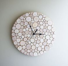 Birch forest wood clock.