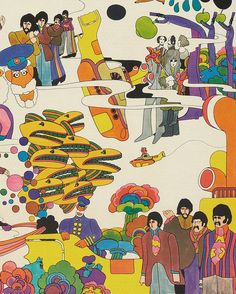 Beatles Art, The Beatles, Music Illustration, Graphic Design Illustration, Yellow Submarine Art, Beatles Tattoos, Native American History, British History, Women In History
