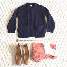 J.Crew soft knit navy cardigan Stunning quality and style! Like new with two pockets in the front! Size XS J. Crew Sweaters Cardigans