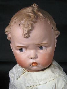 Antique Grumpy Gebruder Heubach 8548 Mold German Doll ~ RARE!