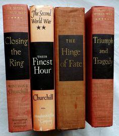 Second World War Winston Churchill Lot Of 4 Memoirs Finest Hour Hing Fate